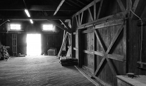 Inside the depot - black and white