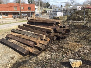 donated railroad ties