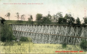 Trestle over Bays Fork Creek - Library Special Collections - WKU